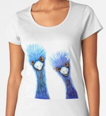 Quirky Emus Premium Scoop T-Shirt