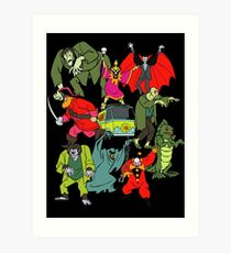 Scooby Doo Villians Art Print