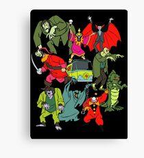 Scooby Doo Villians Canvas Print