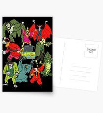Scooby Doo Villians Postcards