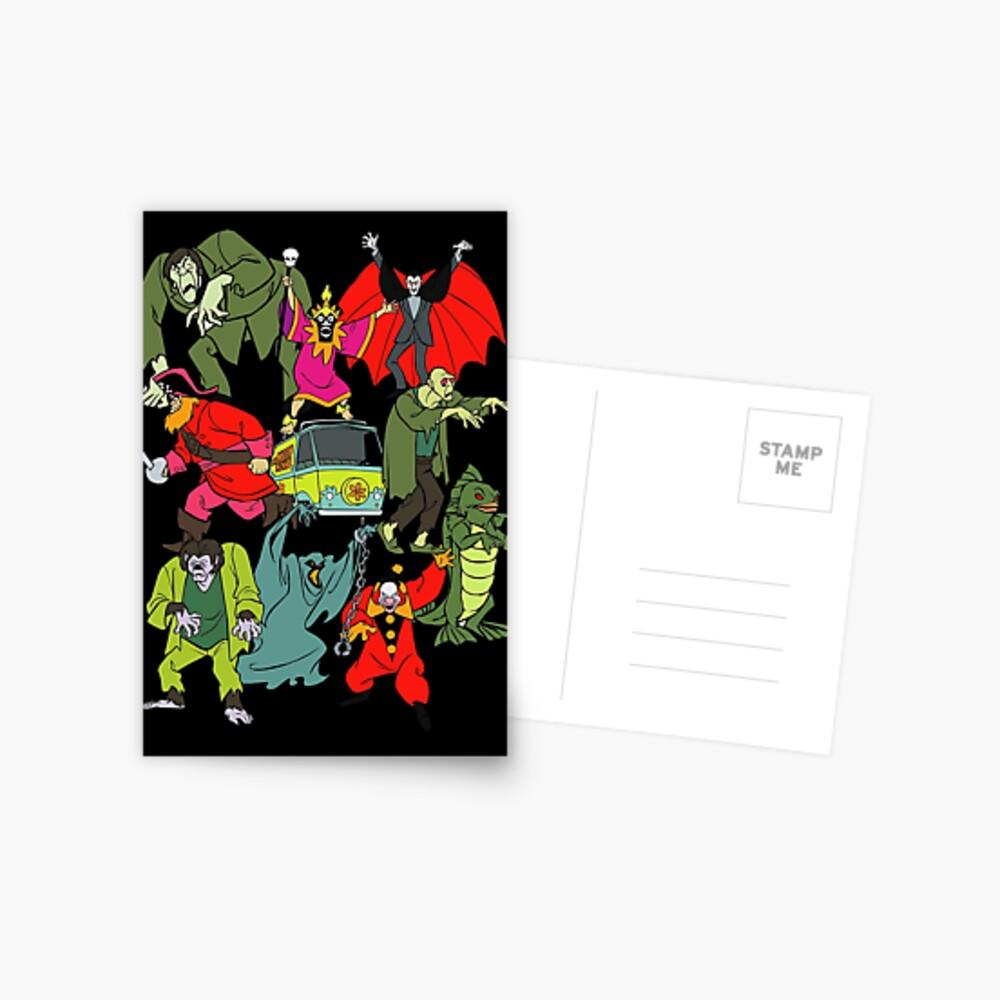 Scooby Doo Villians Postkarte
