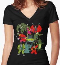 Scooby Doo Villians Women's Fitted V-Neck T-Shirt
