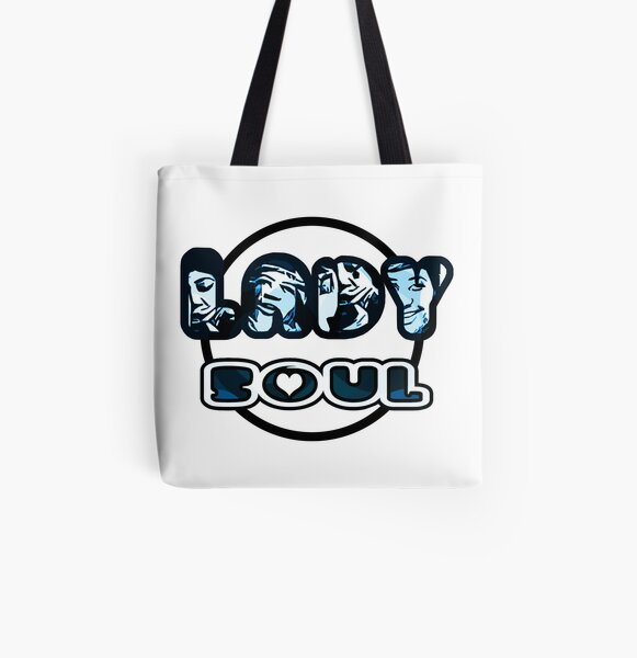 Lady Soul - Blue All Over Print Tote Bag