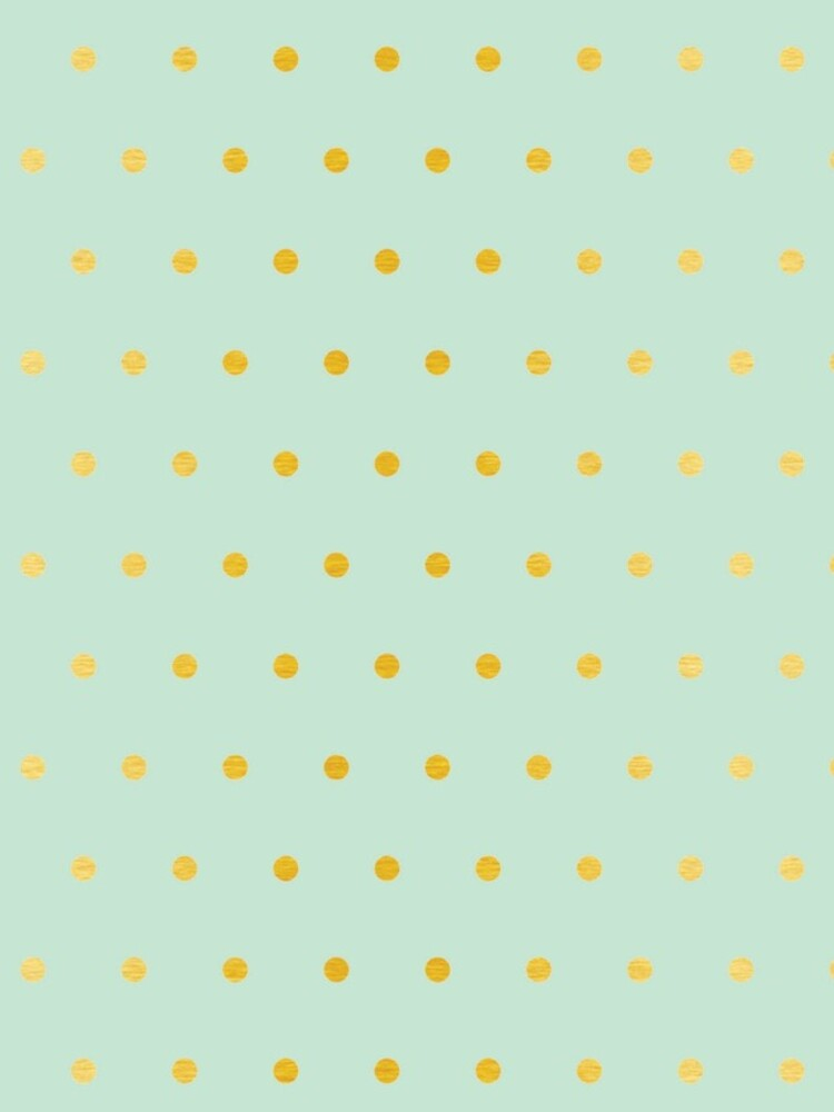 light mint gold dots by ashleysally00