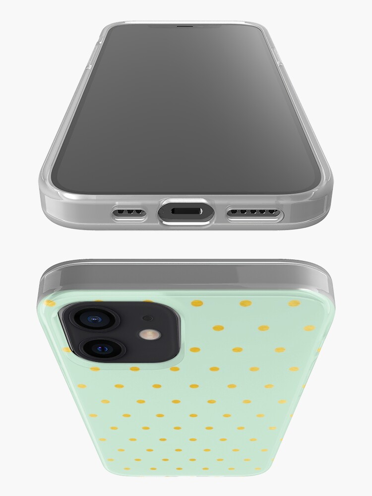 Alternate view of light mint gold dots iPhone Case & Cover