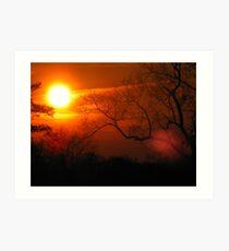 Sunset in Hephzibah Art Print