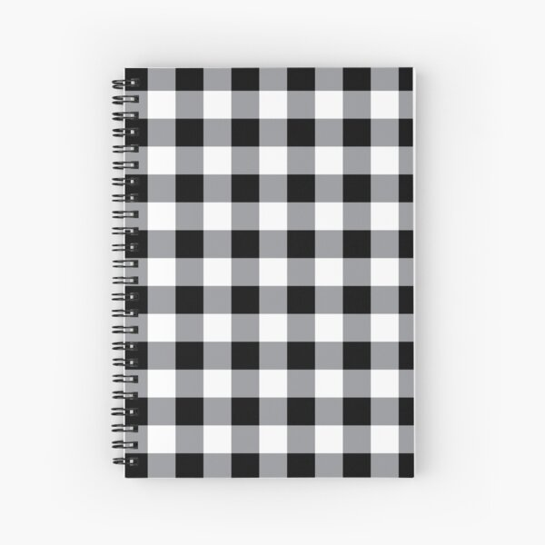 Farmhouse Style Black Buffalo Check Pattern Spiral Notebook