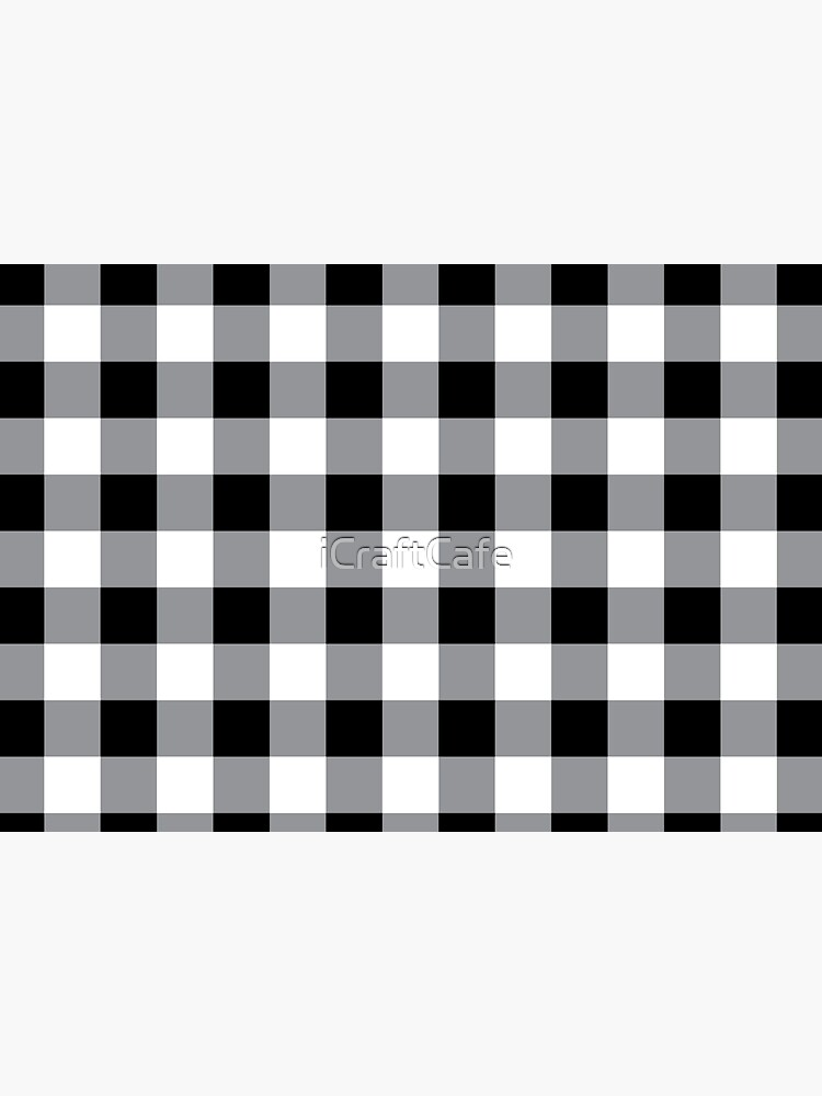 Farmhouse Style Black Buffalo Check Pattern by iCraftCafe
