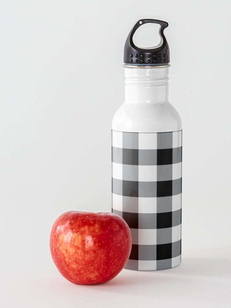 Alternate view of Farmhouse Style Black Buffalo Check Pattern Water Bottle