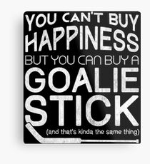 You Can't Buy Happiness, Hockey Goalie Metal Print