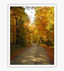 Autumn Road in Willimantic Maine Sticker