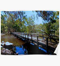 footbridge over billabong Poster