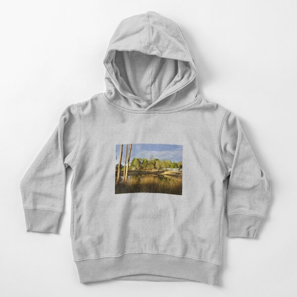 Summer by the Dam - Adelaide Hills Wine Region - Fleurieu Peninsula by South Australian artist Avril Thomas Toddler Pullover Hoodie