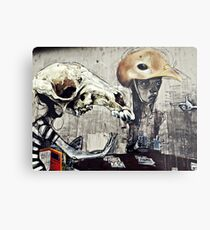 The turn of a friendly card..... Metal Print