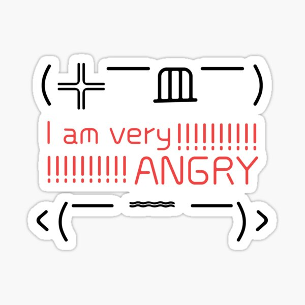 I am very Angry, Emoji in Chinese characters and symbols  Sticker