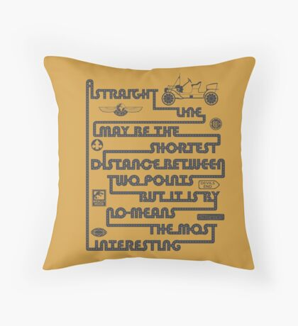A Straight Line Throw Pillow
