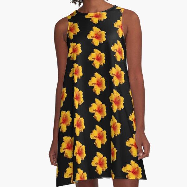 Beautiful yellow hibiscus flower A-Line Dress
