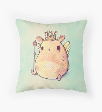 Prince Angel of Bunnyland Throw Pillow