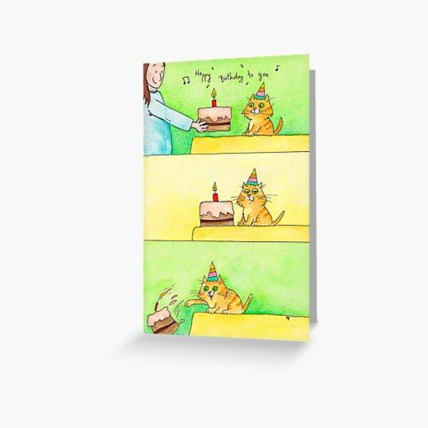 Cat Birthday greeting card  Greeting Card
