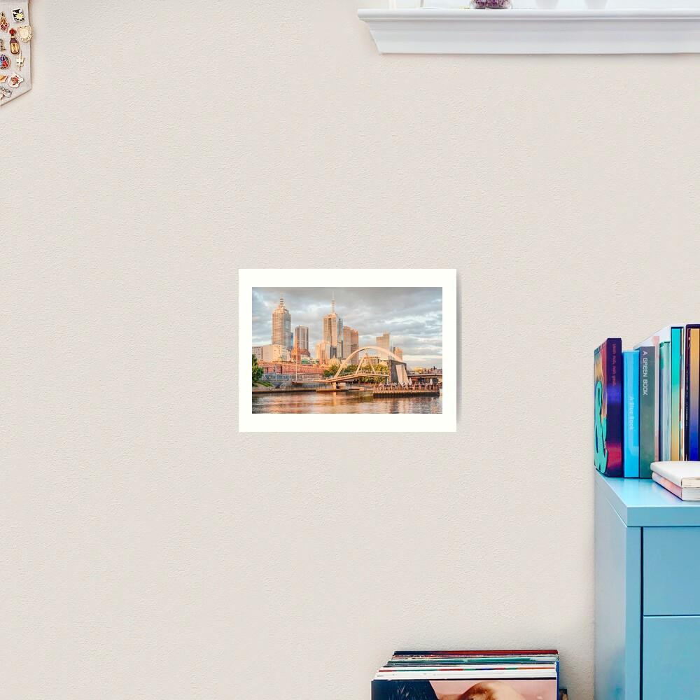 Pastel Melbourne Art Print