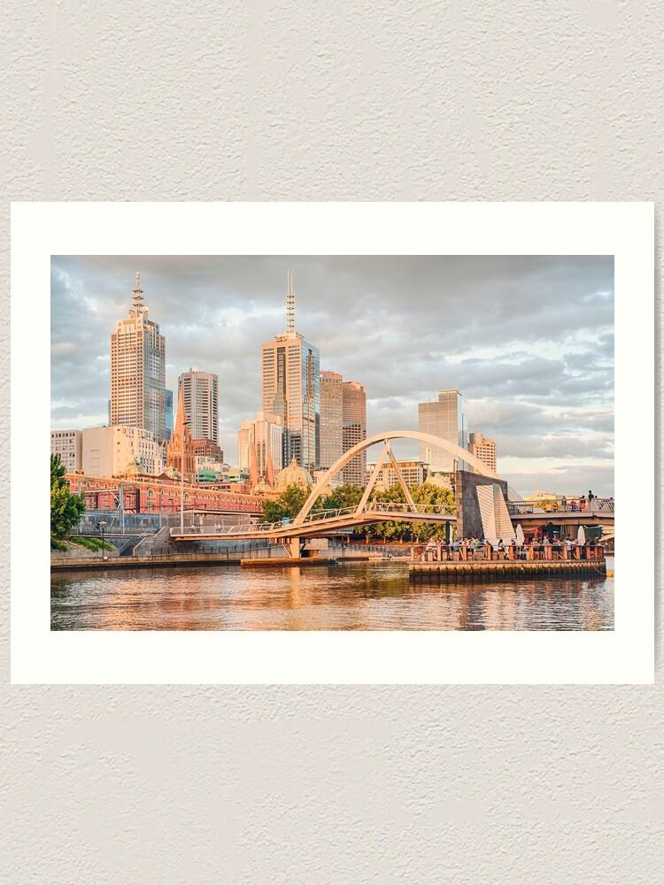 Alternate view of Pastel Melbourne Art Print