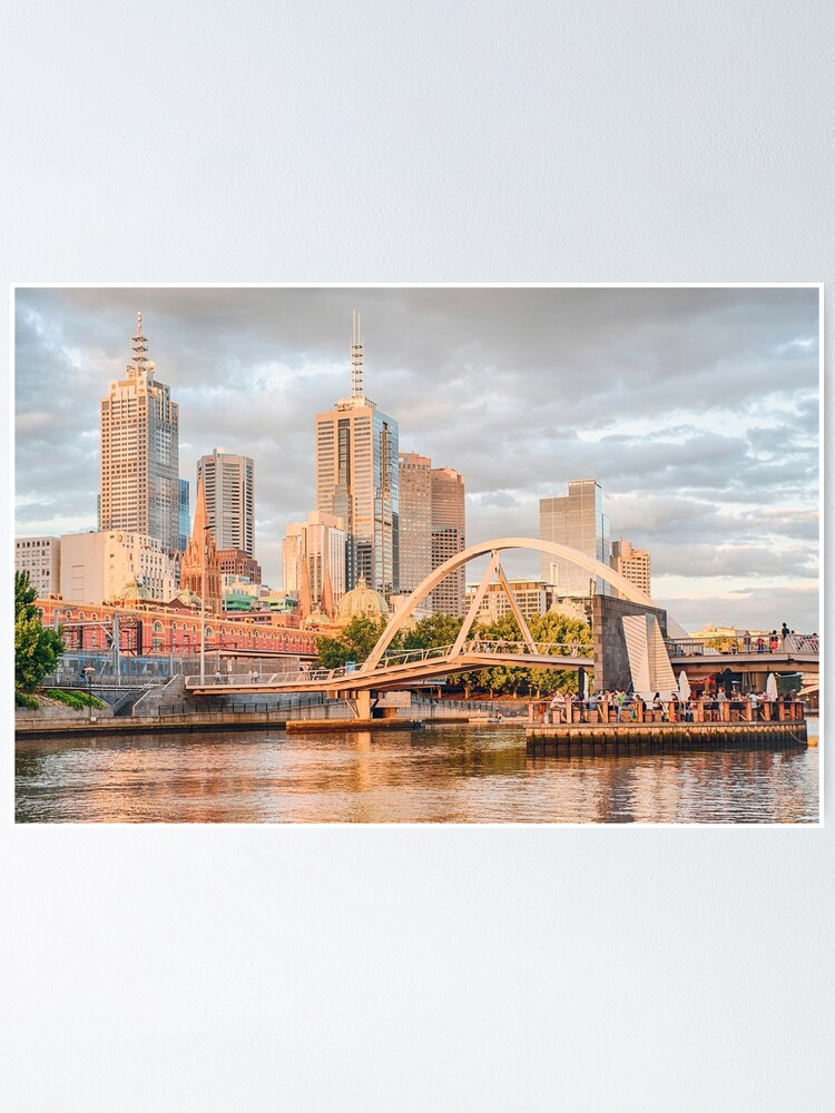 Alternate view of Pastel Melbourne Poster