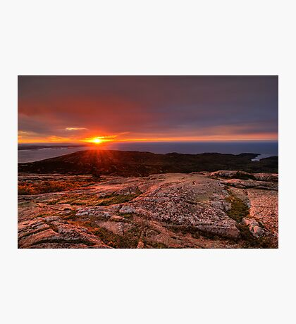 Sunrise from Cadillac Mountain Photographic Print
