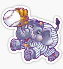 Wild Animal League Elephant Baseball  Sticker
