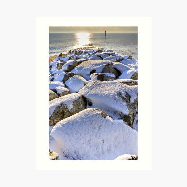 Sun Sea Snow Art Print