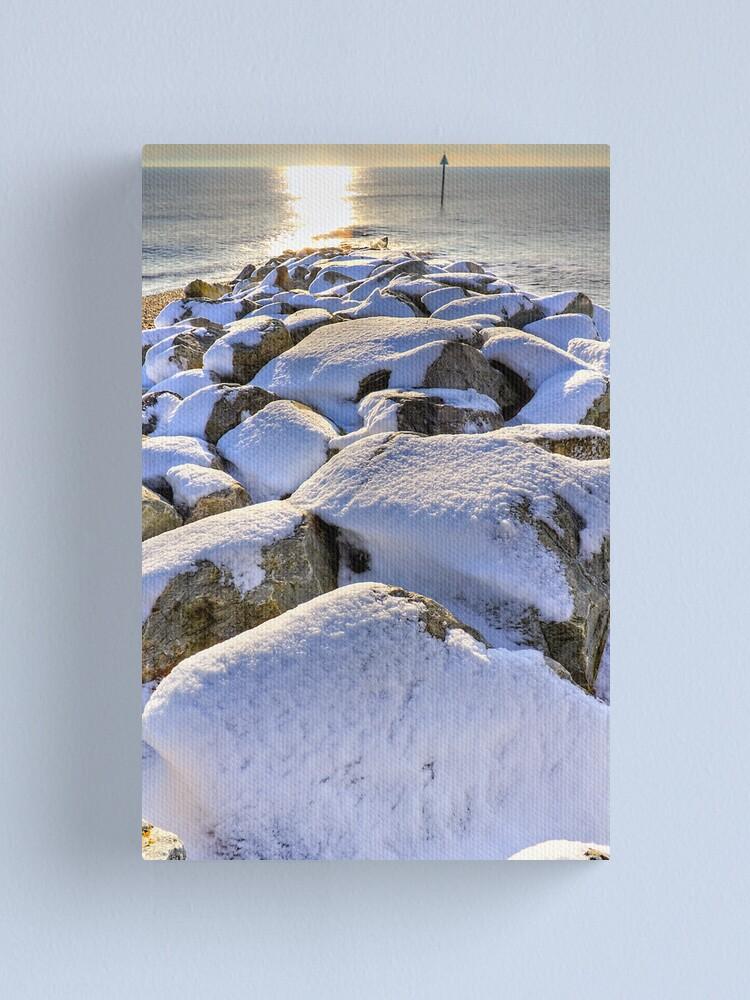 Alternate view of Sun Sea Snow Canvas Print
