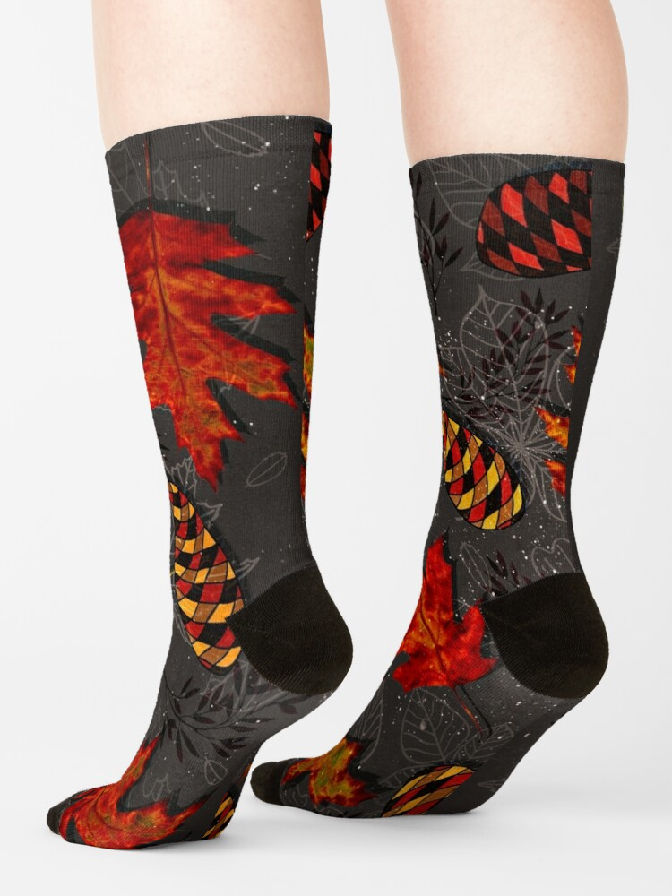 Alternate view of Autumn Galaxy Socks