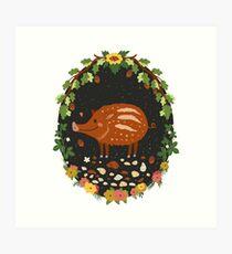 Teddy boar Art Print