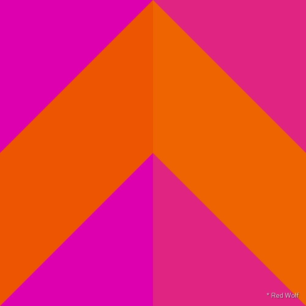 Geometric Pattern: Chevron: Pop by * Red Wolf
