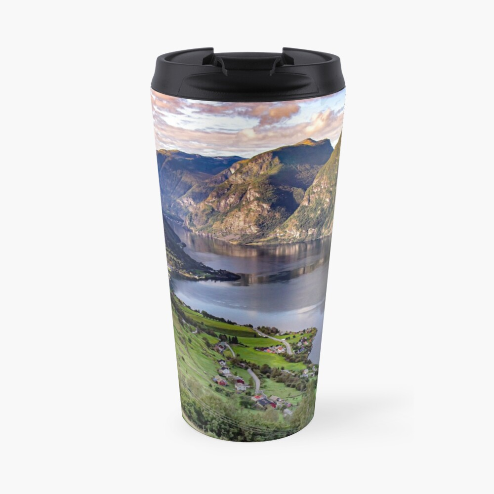 Aurlandsfjord Above Flåm - Norway Travel Mug