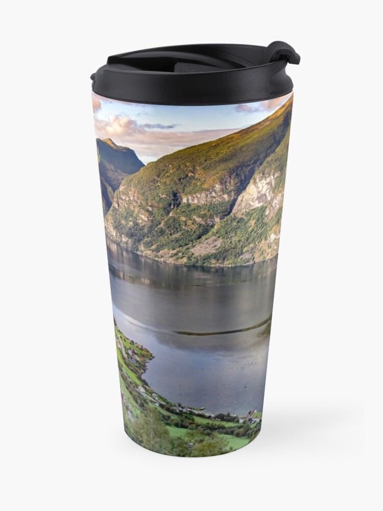 Alternate view of Aurlandsfjord Above Flåm - Norway Travel Mug