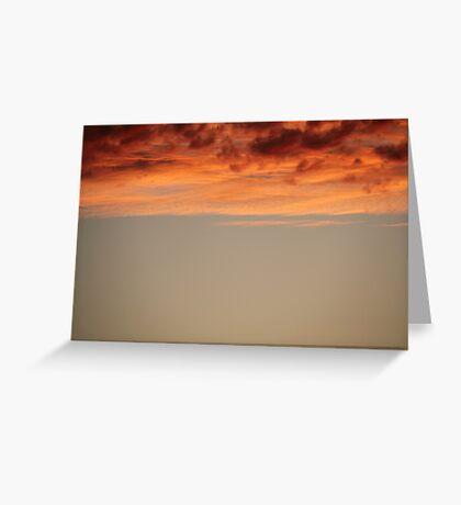 perth skies Greeting Card