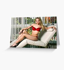White Recliner Greeting Card