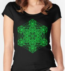 Infinity Cube Green Women's Fitted Scoop T-Shirt