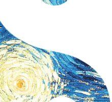 Yin Yang Starry Night  Sticker