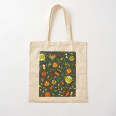 Evening meadow Cotton Tote Bag