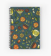 Evening meadow Spiral Notebook