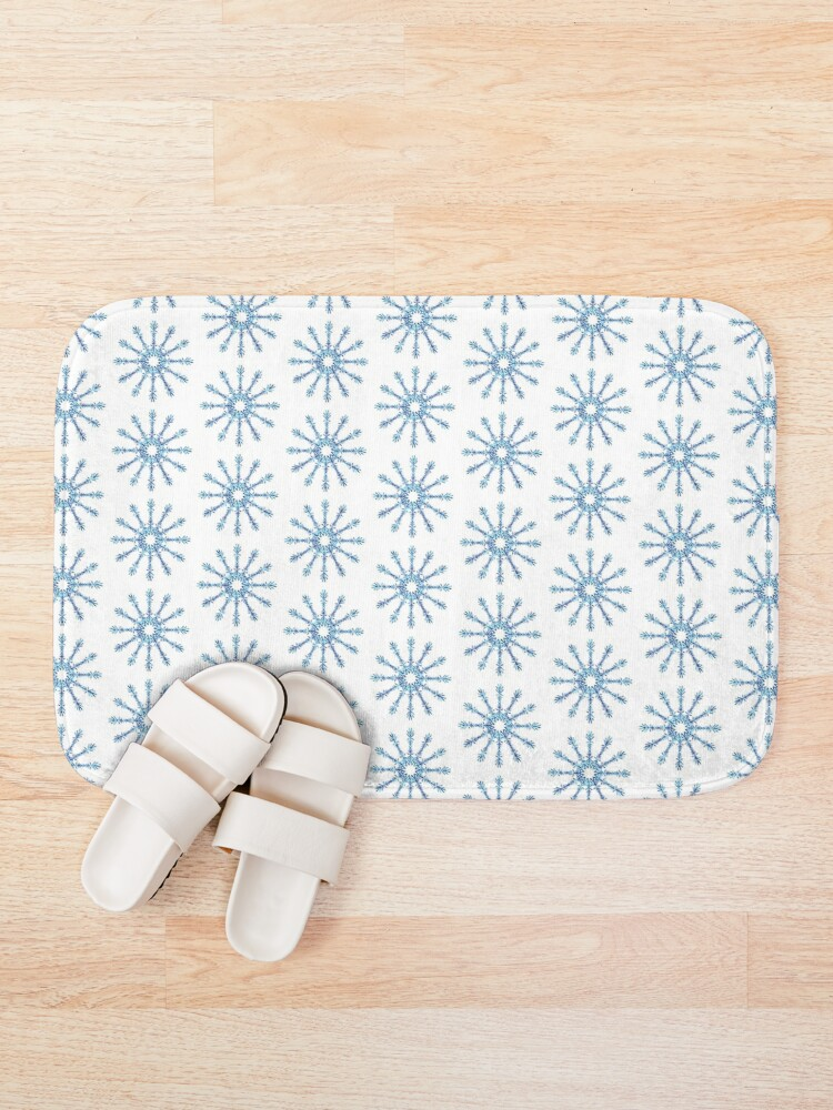 Alternate view of Snowflakes Bath Mat