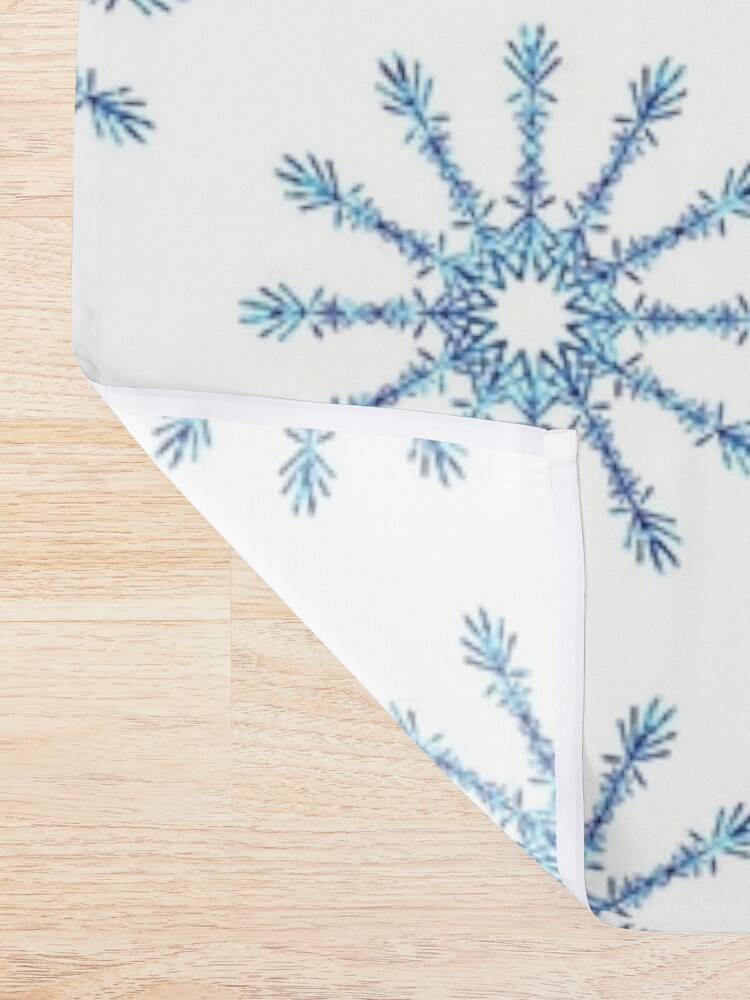 Alternate view of Snowflakes Shower Curtain