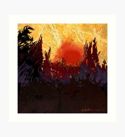 """""""Rising Sun"""" Art Print"""