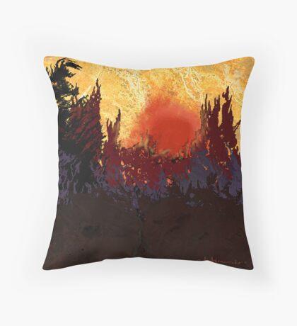 """""""Rising Sun"""" Throw Pillow"""