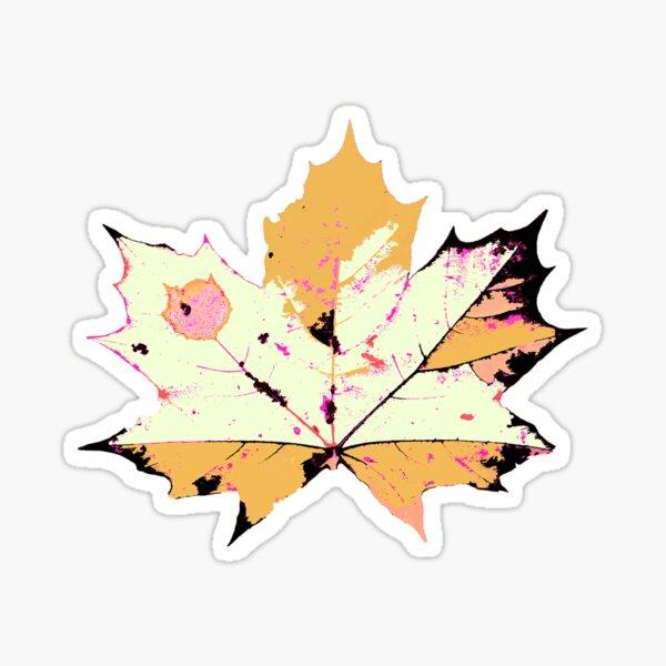 Herbst Blätter in Senf Farben Sticker