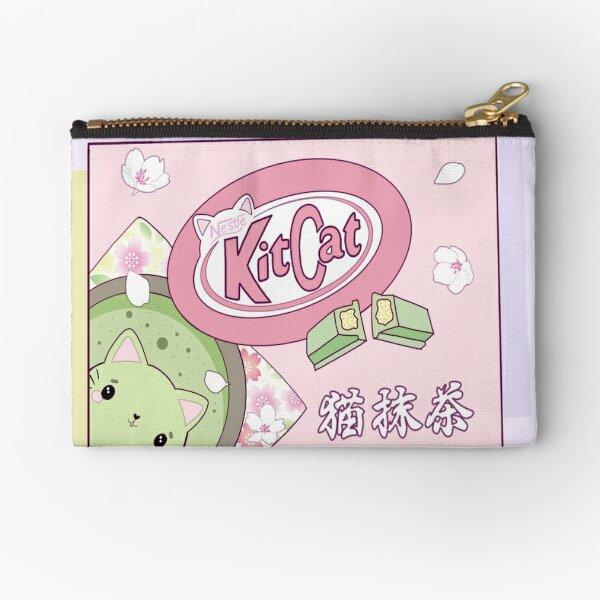 Matcha KitCat Zipper Pouch
