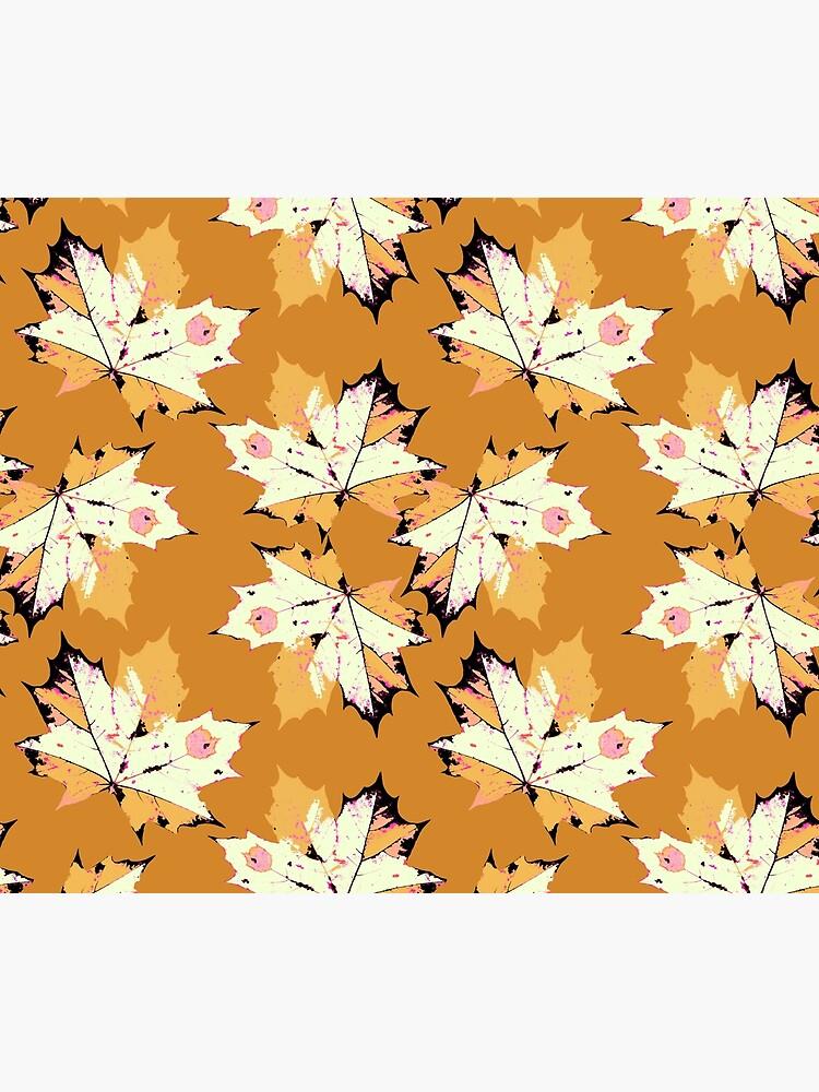 Herbst Blätter in Senf Farben von RanitasArt