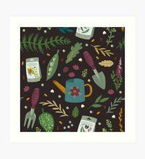 Garden tillage Art Print