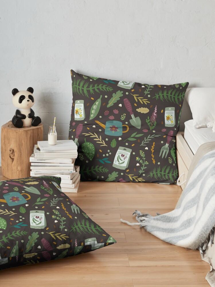 Alternate view of Garden tillage Floor Pillow